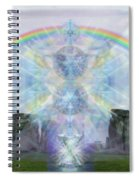 Chalice Over Stonehenge In Flower Of Life Spiral Notebook