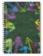 Chalk Drawing Colorful Arrows Spiral Notebook
