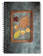 Chalkboard Leaves Spiral Notebook