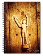 Chalked Out John Doe Spiral Notebook