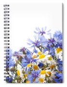 Chamomile And Cornflower Mix Spiral Notebook