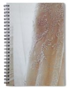 Champagne Lace Spiral Notebook
