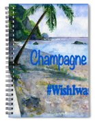 Champagne Snorkel Dominica Shirt Spiral Notebook