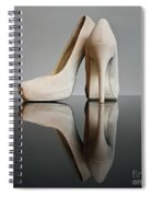Champagne Stiletto Shoes Spiral Notebook