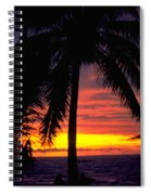 Champagne Sunset Spiral Notebook