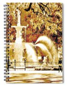 Champagne Twilight Forsyth Park Fountain In Savannah Georgia Usa  Spiral Notebook