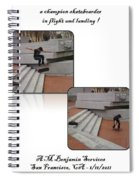 Champion In Flight And Landing Spiral Notebook