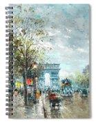 Champs Elysees Avenue, Paris Spiral Notebook