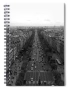 Champs Elysees In Paris Spiral Notebook
