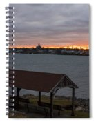 Chandler Hovey Park Sunset Marblehead Ma Spiral Notebook