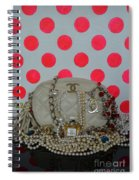 Chanel And Pink Polka Dots Spiral Notebook