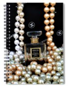 Chanel Coco With Pearls Spiral Notebook