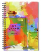 Chanel Five Watercolor Spiral Notebook