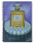 Chanel No 5 With Pearls Painting Spiral Notebook