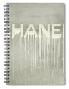 Chanel Plakative Fashion - Simple Beige Spiral Notebook