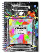 Chanel Rainbow Colors Spiral Notebook