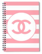 Chanel - Stripe Pattern - Pink - Fashion And Lifestyle Spiral Notebook