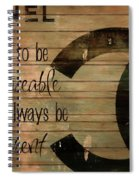 Chanel Wood Panel Rustic Quote Spiral Notebook