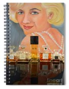 Chanels With Marilyn Monroe Spiral Notebook