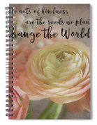Change The World Spiral Notebook