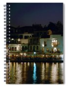 Chania By Night  Spiral Notebook