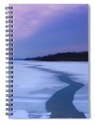 Channel Through The Ice Spiral Notebook