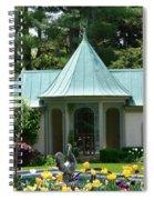 Chanticleer Bath House B Spiral Notebook