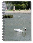 Chantilly Castle Garden In France Spiral Notebook