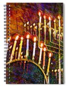 Chanukiah Spiral Notebook