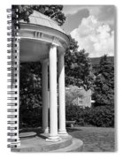 Chapel Hill Old Well In Black And White Spiral Notebook