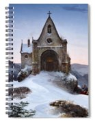 Chapel On A Mountain In Winter Spiral Notebook