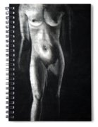 Charcoal Nude Study Spiral Notebook