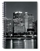 Charcoal Panoramic In Pittsburgh 2017 Spiral Notebook