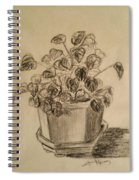 Charcoal Planter Spiral Notebook