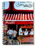 Charcuterie Schwartz's Deli Montreal Spiral Notebook