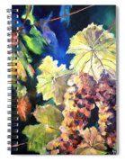 Chardonnay Vines Spiral Notebook