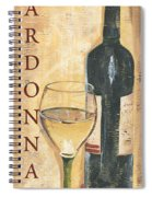 Chardonnay Wine And Grapes Spiral Notebook
