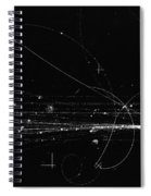 Charged Particles, Bubble Chamber Event Spiral Notebook