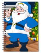 Chargers Santa Claus Spiral Notebook