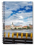 Charles Bridge And Penguines Spiral Notebook