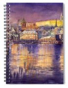 Charles Bridge And Prague Castle With The Vltava River Spiral Notebook