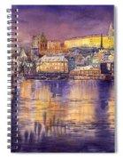 Charles Bridge And Prague Castle With The Vltava River Spiral Notebook