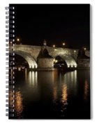 Charles Bridge At Night Spiral Notebook