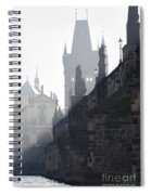 Charles Bridge In The Early Morning Fog Spiral Notebook