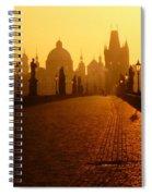 Charles Bridge Prague At Sunrise Spiral Notebook
