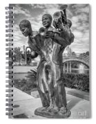 Charles Buddy Bolden - New Orleans - Bw Spiral Notebook