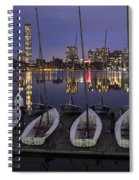 Charles River Boats Clear Water Reflection Spiral Notebook
