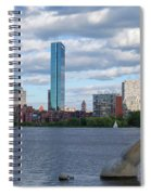 Charles River Boston Ma Crossing The Charles Spiral Notebook