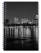 Charles River Boston Ma Prudential Lit Up Not Done New England Patriots Black And White Spiral Notebook