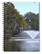 Charles Towne Landing Fountain Spiral Notebook